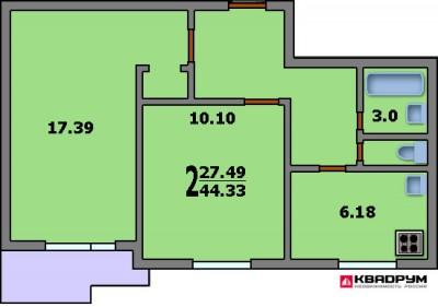 Перепланировка двухкомнатной квартиры II-18, схема, фото