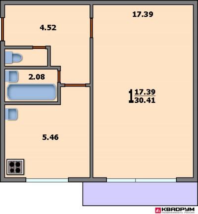 Планировка 3х комнатной квартиры в панельном доме